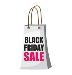 Shopping bag black friday sale icon cartoon style vector image