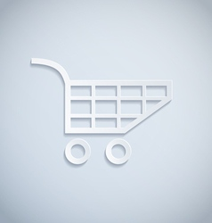 shopping cart paper vector image vector image