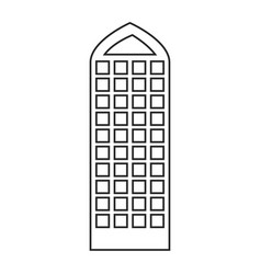 silhouette of building skyscraper with modern vector image