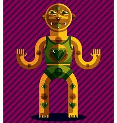 Spiritual totem meditation and yoga theme d vector
