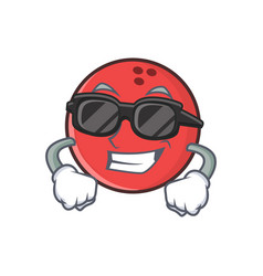Super cool bowling ball character cartoon vector