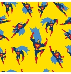 Superman seamless pattern vector