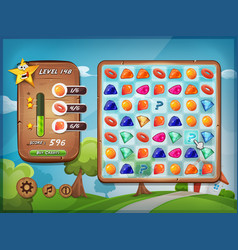 Switcher game user interface for tablet pc vector