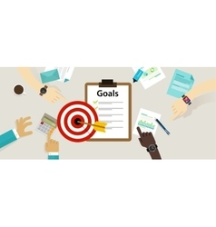 Target goals icon success business strategy vector