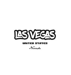 United states las vegas nevada city graffitti vector