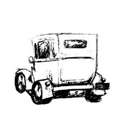 vintage hand drawn retro car vector image vector image