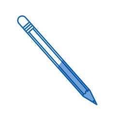 Wooden pencil utensil school study image vector