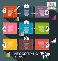 Infographics template paper infographic layout vector