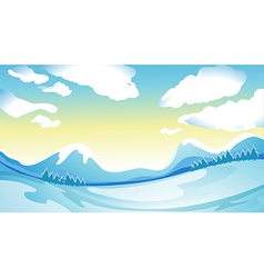 Frozen place vector image