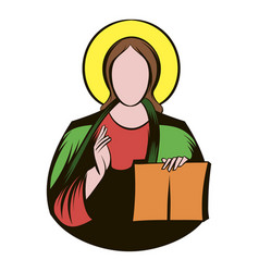 jesus christ icon cartoon vector image