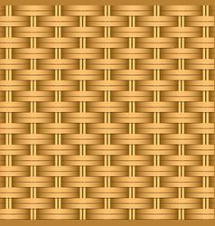 simple woven wicker texture light brown vector image