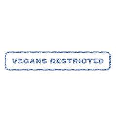 Vegans restricted textile stamp vector