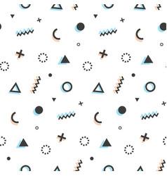 geometric seamless pattern background memphis art vector image