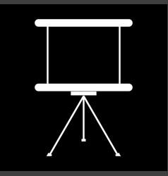 business presentation board the white color icon vector image