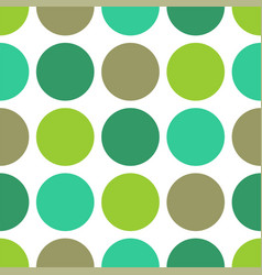 Tile pattern with green polka dots on white vector