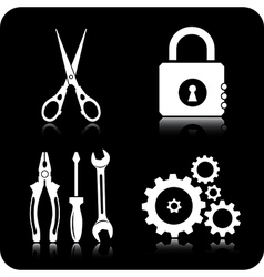 Tools icons vector