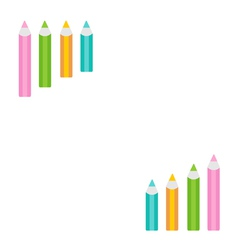 Pencil diagram frame white background template vector