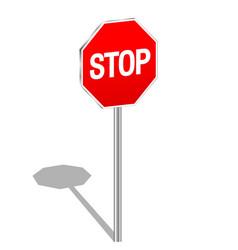 3d sign stop vector