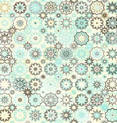 snowflakes vintage seamless pattern vector image