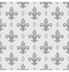 Royal lily seamless pattern vector