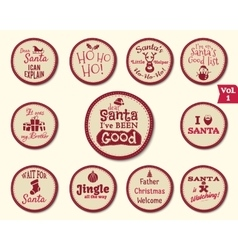 Christmas badge and design elements with funny vector