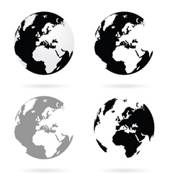 Planet earth atlas set vector