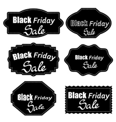 Set of different dark stickers vector