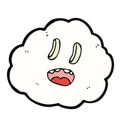Comic cartoon spooky cloud vector