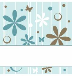 Floral retro background vector