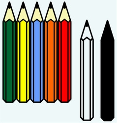Colorful set of pencils vector