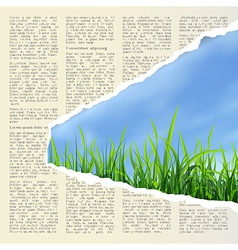 Hole in newspaper vector