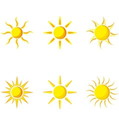 Sun icon set vector