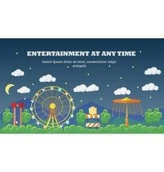 Amusement park banner concept vector image