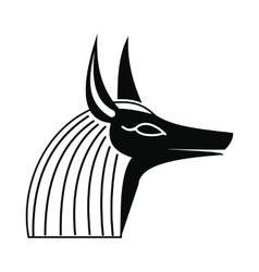 Anubis head icon simple style vector image