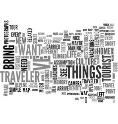 Are you a traveler text word cloud concept vector
