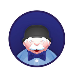 Avatar of elderly man with fashion accessories vector