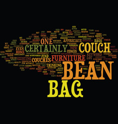 Bean bag cover text background word cloud concept vector