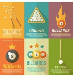 Billiards poster set vector