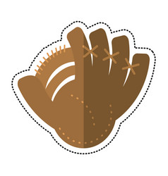 Carton baseball glove sport icon vector