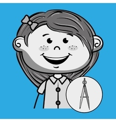 character school student icon vector image