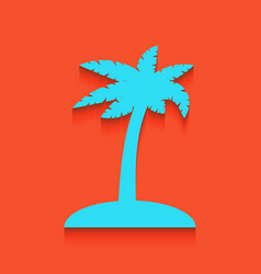 Coconut palm tree sign whitish icon on vector