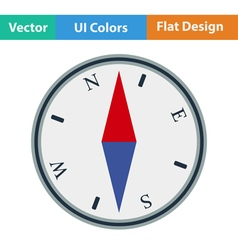 Flat design icon of compass vector