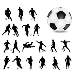football 4 vector image vector image