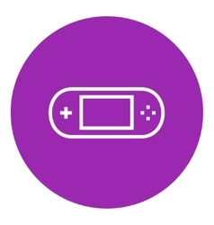 Game console gadget line icon vector