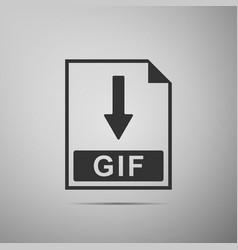 Gif file document icon download gif button icon vector