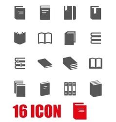 grey book icon set vector image vector image