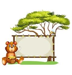 Honeybear Honeybee Signboard vector image vector image