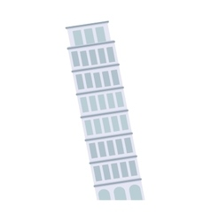 Leaning Tower of Pisa architecture landmark vector image