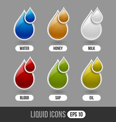Liquid icons vector image vector image