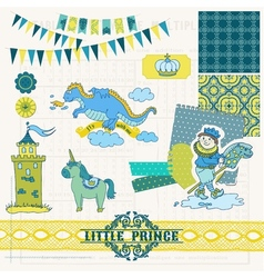 Little prince boy set vector